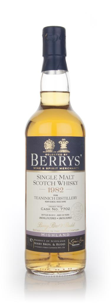 Teaninich 29 Year Old 1982 (Berry Bros. & Rudd) Unknown Whisky