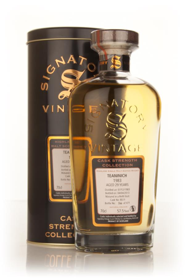 Teaninich 29 Year Old 1983 (cask 8071) - Cask Strength Collection (Sig Single Malt Whisky