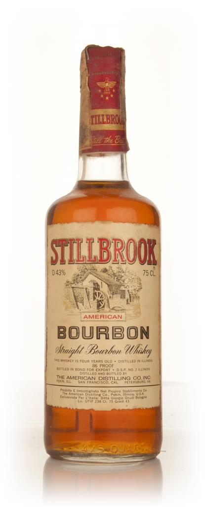 Stillbrook 4 Year Old American Straight Bourbon Whiskey - 1960s Bourbon Whiskey