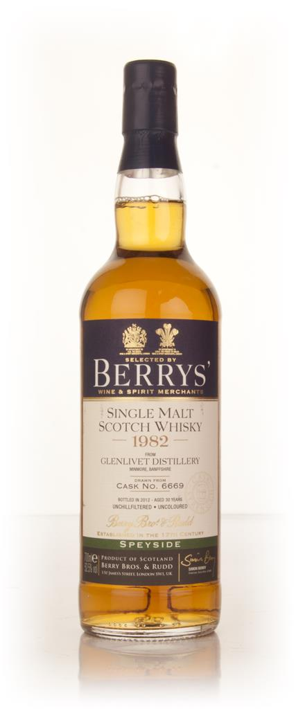 Glenlivet 30 Year Old 1982 (cask 6669) (Berry Bros. & Rudd) Single Malt Whisky