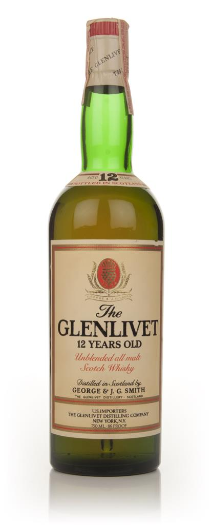 The Glenlivet 12 Year Old - 1970s Single Malt Whisky