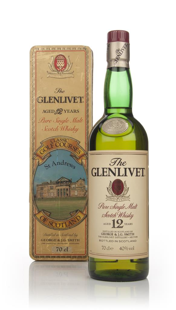 The Glenlivet 12 Year Old 70cl - Classic Golf Courses of Scotland (St Single Malt Whisky