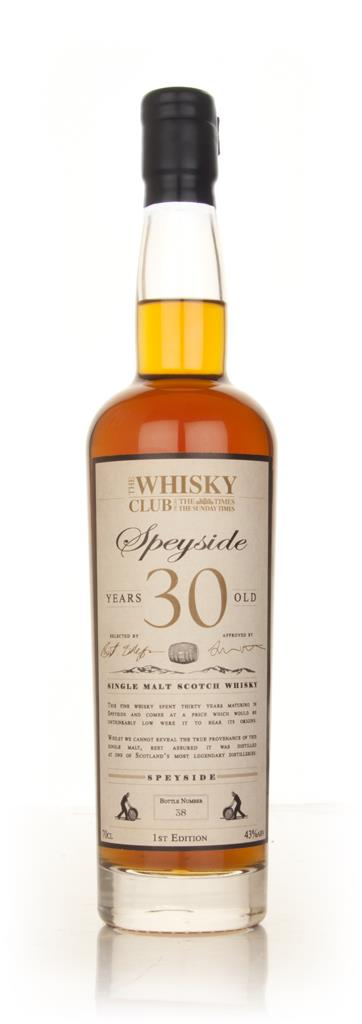 The Whisky Club 30 Year Old Speyside Single Malt Whisky