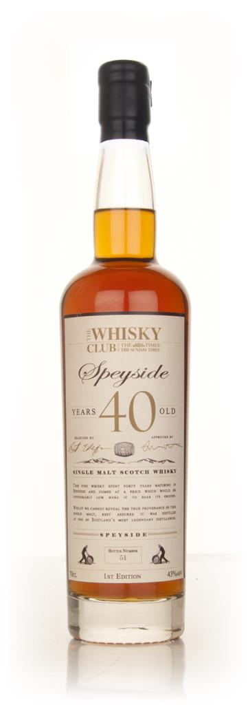 The Whisky Club 40 Year Old Speyside Single Malt Whisky