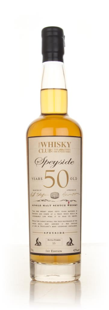 The Whisky Club 50 Year Old Speyside Single Malt Whisky