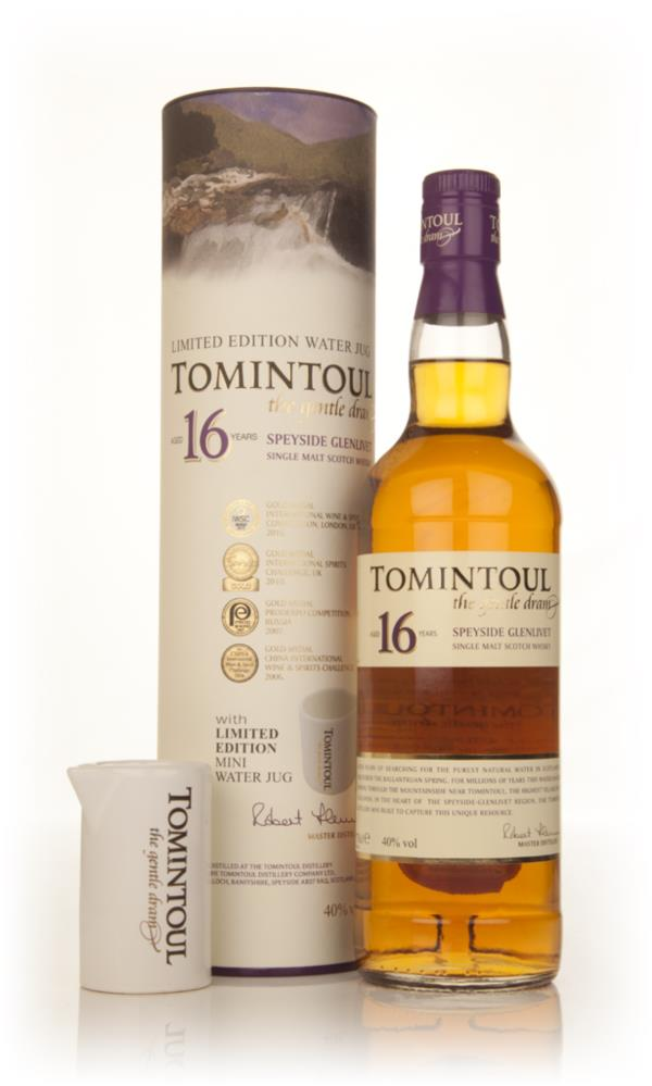 Tomintoul 16 Year Old With Limited Edition Water Jug Single Malt Whisky