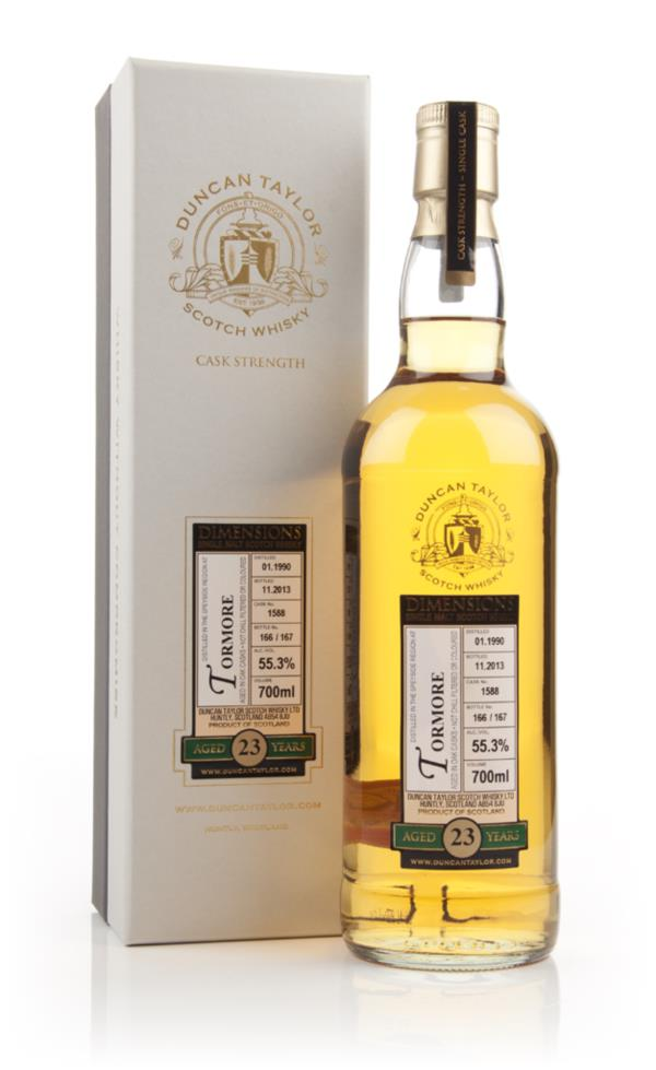 Tormore 23 Year Old 1990 (cask 1588) - Dimensions (Duncan Taylor) Single Malt Whisky