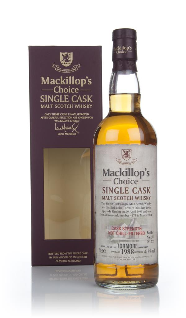 Tormore 27 Year Old 1988 (cask 4177) - Mackillop's Choice 3cl Sample Single Malt Whisky