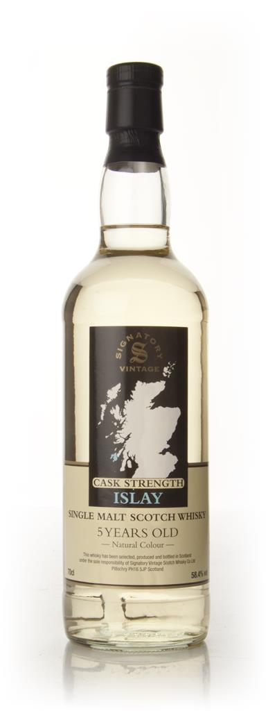 Vintage Islay 5 Year Old Cask Strength - (Signatory) Whisky Whiskey