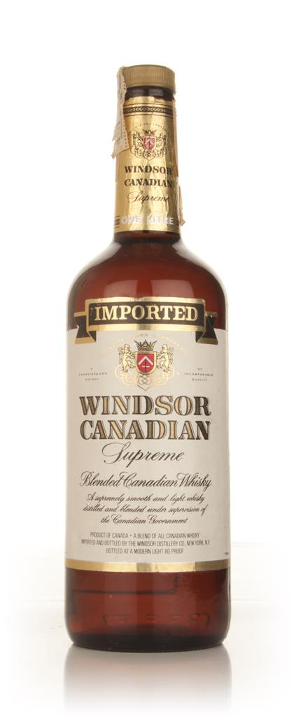 Windsor Canadian Supreme Blended Whisky - 1970s Blended Whisky