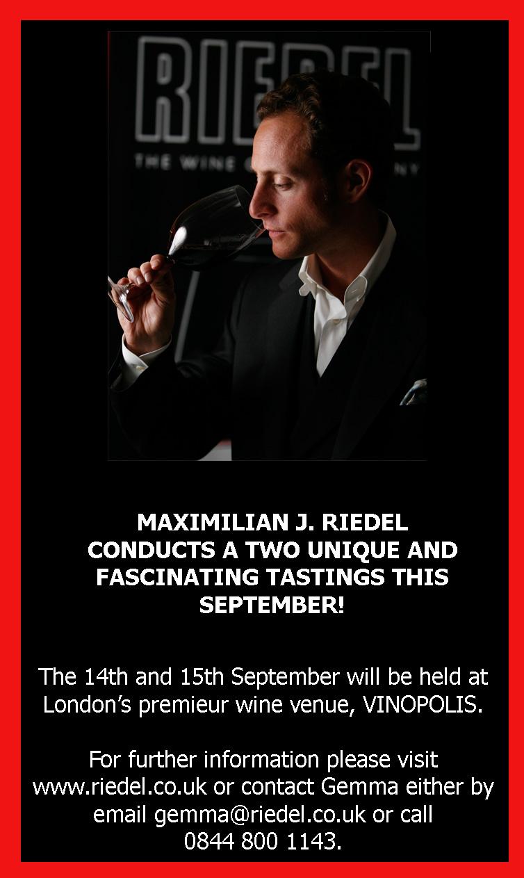 Riedel Glassware - a tasting event