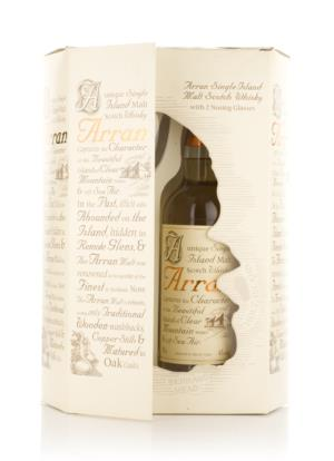 Arran 10 Year Old (with Nosing Glasses) Single Malt Scotch Whisky