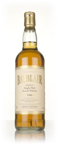 Balblair 1966  40 Year Old Gordon & MacPhail Single Malt Scotch Whisky