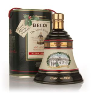 Bells 1989 Christmas Decanter