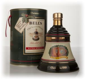 Bells 1991 Christmas Decanter