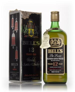 Bell S 12 Year Old De Luxe Black Christmas Box 1970s