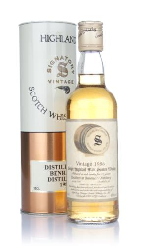 BenRiach 1986 Signatory Single Malt Scotch Whisky