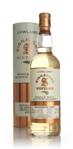Bladnoch 1993  16 Year Old  Signatory Single Malt Scotch Whisky