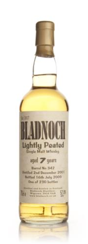 Bladnoch 7 Year Old Lightly Peated Single Malt Scotch Whisky