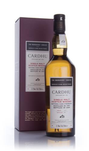 Cardhu 1997 Managers Choice Single Malt Scotch Whisky