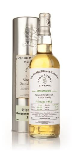 Cragganmore 1992  17 Year Old  Signatory Un-Chillfiltered Single Malt Scotch Whisky