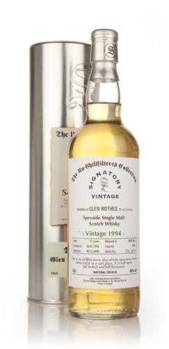 Glenrothes 1994 15 Year Old Signatory Single Malt Scotch Whisky