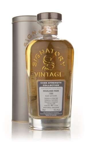 Highland Park 22 Year Old 1986 - Cask Strength Collection (Signatory)