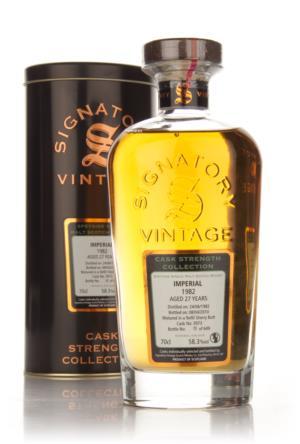 Imperial 1982 27 Year Old Signatory Single Malt Scotch Whisky