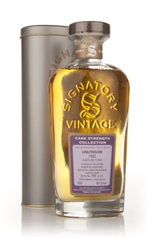 Linlithgow 26 Year Old 1982 Signatory Cask Strength Single Malt Scotch Whisky