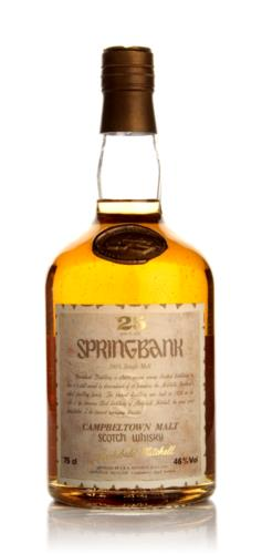 Springbank 25 Year Old (Old Bottle) Single Malt Scotch Whisky