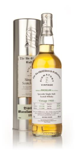 Macallan 1988 21 Year Old Single Malt Scotch Whisky