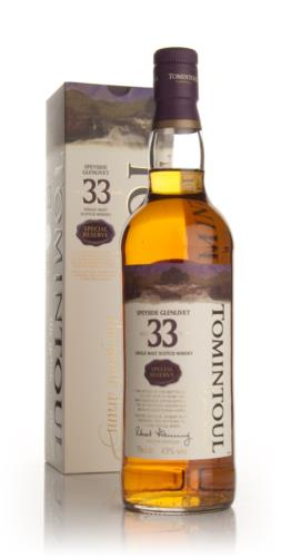 Tomintoul 33 Year Old Single Malt Scotch Whisky